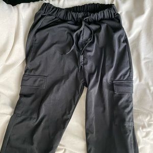 Black cargo sweatpants